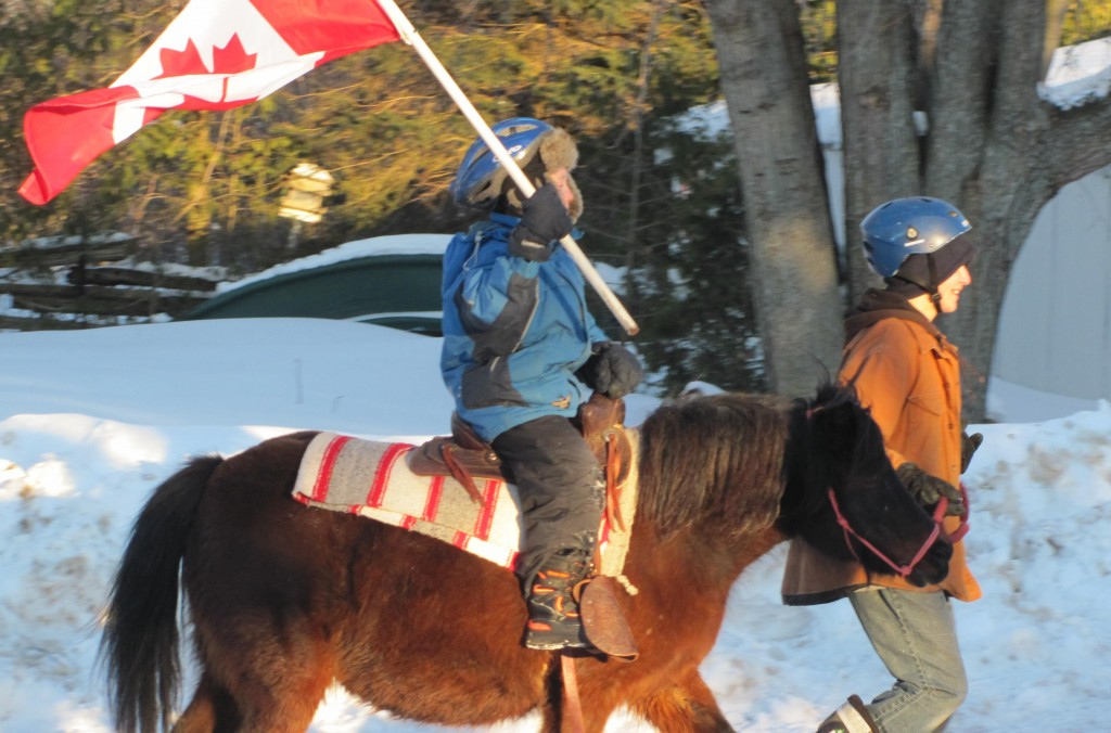 Best picture goes to the Olympians. Boy one has had his riders carrying the flag all weekend. Go Canada!