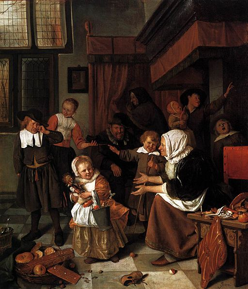 The Feast of St. Nicholas, by Jan Steen. (via Wikimedia Commons)